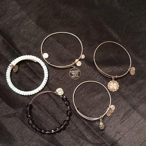 Alex and Ani Bracelets Set of 5